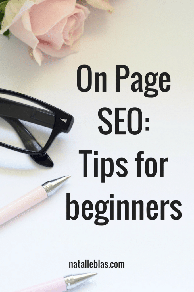 on page SEO tips for beginners